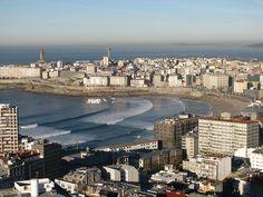 La Coruña, Playa de Riazor y Playa del Orzán | Vistas desde … | Flickr
