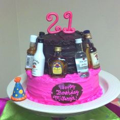 This is my 21st birthday cake. Haha. Except it'll have different colors.
