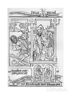 Fragment Facsimile of Page 28 of the Bible of the Poor, 1849 Giclee Print by Cottard at AllPosters.com
