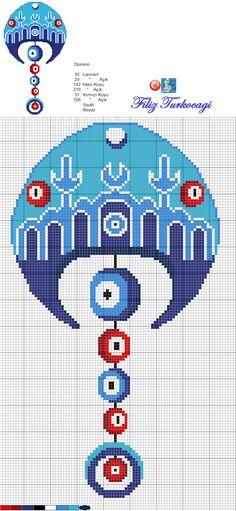 Araya yine bir nazar çalışması katmak istedim :) Designed by Filiz Türkocağı... ( Turkish evil eye )