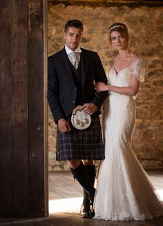 We have a number of tartans available to hire and an expansive range for purchase. Check out our website to see the range to pick the perfect kilt for your wedding!