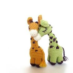 Slender and graceful, a lovely giraffe for the sunny days!This pattern uses tables for all parts, with added diagrams and pictures to help along the way. There are also step by step photos detailing how to begin crochet, assemble the parts and finish the embroidery. You will mostly need basic stitches - this is a very simple crochet that takes about 2-3 hours to do. You will need yarn, toy stuffing, embroidery floss and optional bit of modeling wire or pipe-cleaner to complete your…