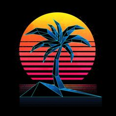 Browse all designs on Signalnoise – available on a range of custom products 80s Logo, 80s Design, Beach Road, Vaporwave, Cyberpunk, Paradise, Tropical, Neon Signs, Miami Vice