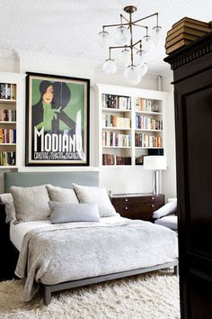 Decor like a pro with these bedroom design ideas! The home design ideas to have the dreamlike bedroom you've ever wanted like a pro with these bedroom design ideas! The home design ideas to have the dreamlike bedroom you've ever wanted! Decor, Home Bedroom, Bedroom Interior, Bookshelves In Bedroom, Interior, Dreamy Bedrooms, Bedroom Decor, Home Decor, House Interior