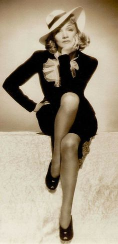 Marlene Dietrich, beautiful and classy