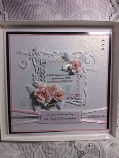 Wedding card made with spellbinder dies