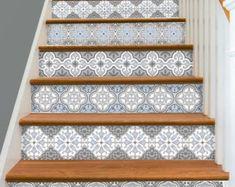Stair Riser Vinyl Strips Removable Sticker Peel & Stick for 15 Linoleum Flooring, Kitchen Flooring, Kitchen Backsplash, Stair Stickers, Wall Stickers, Tile Decals, Vinyl Decals, Indoor Outdoor, Tile Stairs
