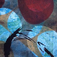 elli print I #monotype #print #printing #gelliplate #gelliprint #blue #artist #joseesavaria_art #abstract #abstractart #artsy