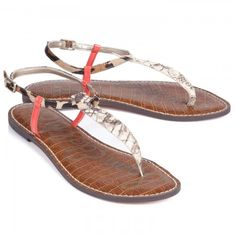 Sam Edelman Gigi Contrast T-Strap Sandals... Perfect for the summer!