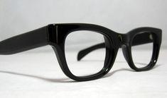 chunky black rimmed glasses men | Vintage Eyeglasses. Mens Solid Black Horn Rim Frames | Menswear