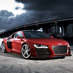 Vibrant Red Rapid Audi R8 just overall awesome in every way possible!