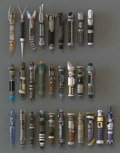 Now that's quite a Lightsaber collection!