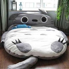 It's time to upgrade and give your new bed a gigantic hug! This giant and snug Totoro is filled with extremely soft padding for the ultimate level of comfort while you rest. You'll never sleep alone again with Totoro! Bean Bag Bed, Bean Bag Chair, Bean Bag For Adults, Kids Bedroom, Bedroom Decor, Master Bedroom, Master Suite, Cute Bedding, Bedding Sets