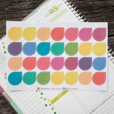 28 Colourful Big Tear Drops Sticker Planner by FasyShop on Etsy