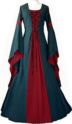 Dornbluth Ladies Medieval Dress Johanna Dark Green (6 / 8... https://www.amazon.co.uk/dp/B00MZSB5JK/ref=cm_sw_r_pi_dp_dfUpxb1BC0GAM
