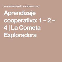 Aprendizaje cooperativo: 1 – 2 – 4 | La Cometa Exploradora