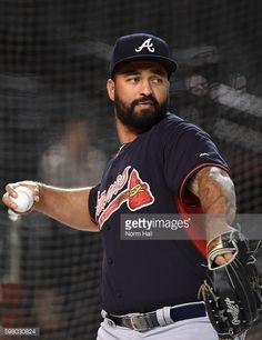 News Photo : Matt Kemp of the Atlanta Braves prepares for a...