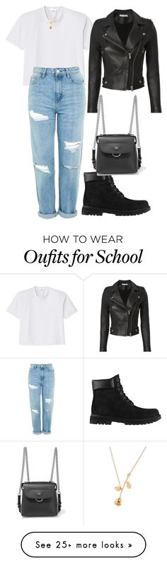 """""""Untitled #1"""" by amiellealdave on Polyvore featuring TIBI, Topshop, IRO, Timberland and Fendi"""
