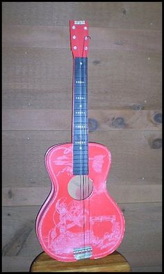 Roy Rogers 1956 Range Rythme Toy Guitar with Original Box - $110.