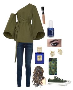 """Peacocks & Owls"" by awesomel4125 on Polyvore featuring rag & bone, Rosie Assoulin, Converse, Kate Spade, NARS Cosmetics, Bella Bellissima and Essie"