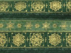 David Textiles Christmas green  with Gold by BlueCraneQuiltShop