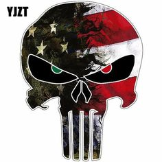 x USA Flag Camo Small Punisher Skull Reflective Personalized Car Stickers Motorcycle Decals note: This item is delivered directly from the manufacturer and will most likely have an extended handling/delivery time of weeks** Punisher Skull, Punisher Logo, Motorcycle Stickers, Bike Stickers, Skull Fire, Batman Tattoo, Star Wars Art, Star Trek, Usa Flag