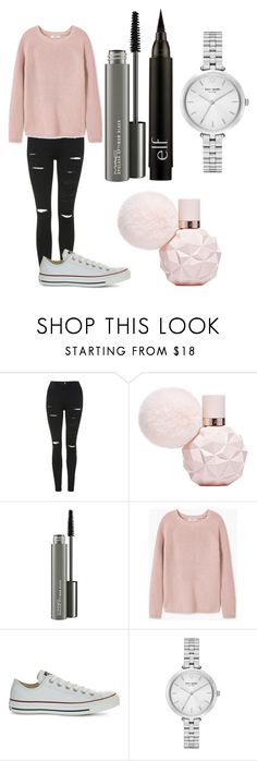 """""""Untitled #20"""" by ncookietime ❤ liked on Polyvore featuring Topshop, MAC Cosmetics, MANGO, Converse and Kate Spade"""
