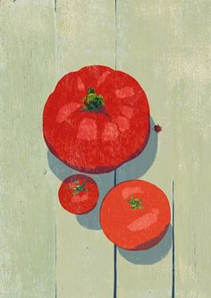 Another beautiful tomato illustration by Tatsuro Kiuchi. We love the tomato lycopene for our skin! Japanese Graphic Design, Japanese Art, Graphic Design Illustration, Illustration Art, Painting Still Life, You Draw, Food Illustrations, Gravure, Art Images