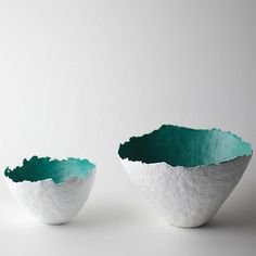 Aqua Color Burst Bowls by Susan Dwyer on all things paper