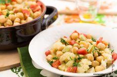 My Cooking Idea. Ricette vegetariane, ricette vegane.: Ceci con cavolfiori e zucchine