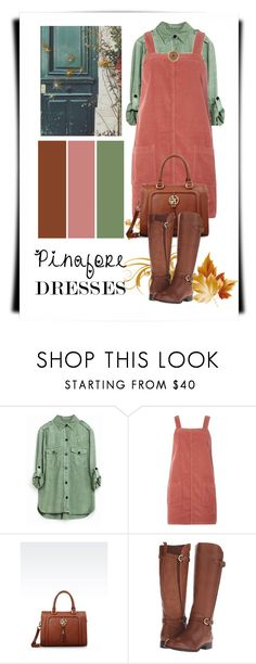 """""""60-Second Style: Pinafores"""" by elena-indolfi ❤ liked on Polyvore featuring Dorothy Perkins, Armani Jeans and Naturalizer"""