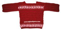 Cómo tejer una chompa o sweater en horquilla o hairpin lace para damas