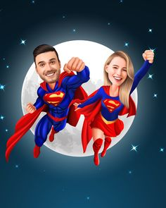 Caricature Gifts, Caricature From Photo, I Love My Son, First Love, Galaxy Wolf, Superman Wonder Woman, Supergirl And Flash, Couple Cartoon, Cartoon Wallpaper
