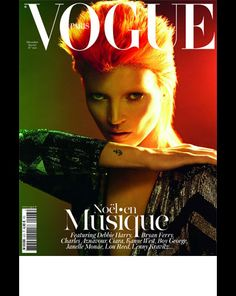 Kate Moss and Vogue Paris pay homage to 80s fashion and music icon David Bowie.