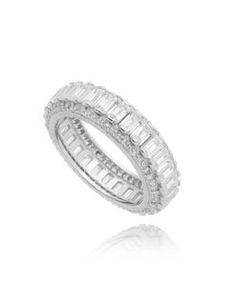 alianca prata 925 com zirconias luxo Aneis Da Moda, Joia Elegante, Semi  Joias Finas a15d30f8ec