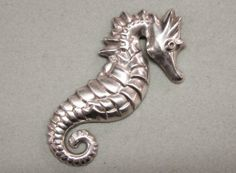 Vintage Sterling Silver Sea Horse Pin by COBAYLEY on Etsy, $40.00 #EcoChic #vintage #jewelry #Fashion