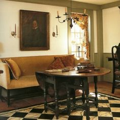 152 best Colonial Design   Decor images on Pinterest   Home ideas     Making Floorcloths   Marblezied and Textured Floorcloth     Decorate with the  things you     Colonial