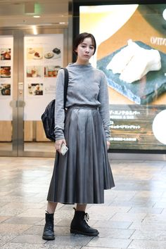 Dr. Martens, Tokyo, Midi Skirt, Street Style, My Style, Skirts, Clothes, Outfits, Skirt