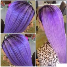 bright purple straight hair inspiration!