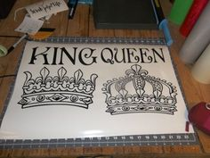 Available on Ebay LARGE King and Queen Sticker Decal- $12.00- eluhhamby
