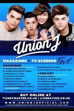 Union J tours and dates #Jcats