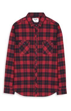 Camisa de xadrez vermelho