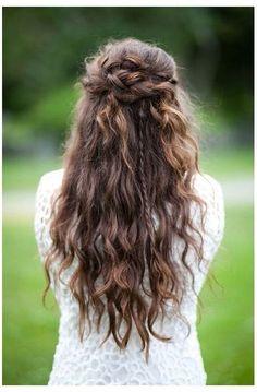 Half Up Half Down Wedding Hairstyles Curly Hair