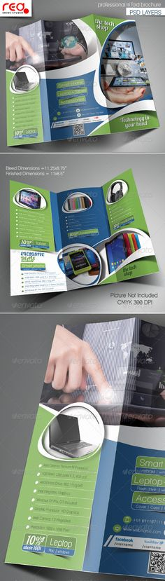 Trifold Menu Template Download, Food design and Print - technology brochure template