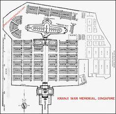 Plan and Map of Kranji War Memorial and Cemetery