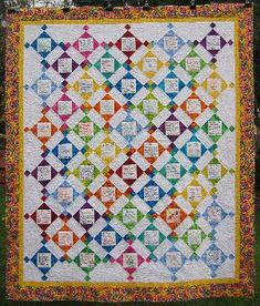 Wedding Quilt.  Have guests sign a block instead of a guest book and make them into a quilt after.