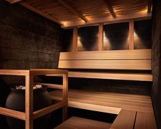 Country Spa Experience via helo-taika kius - modern sauna - Mom insists we have a proper sauna on the Homestead. Modern Saunas, Steam Sauna, Dry Sauna, Portable Sauna, Outdoor Sauna, Sauna Design, Finnish Sauna, Dream Shower, Sauna Room