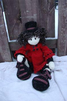 28 inch OOAK Art doll Hand knit crochet rag doll soft by Deena6A, $120.00 knit doll