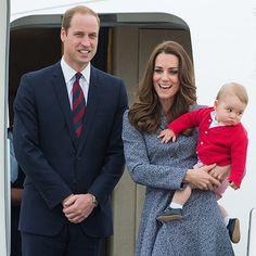 Prince George on his first big trip.