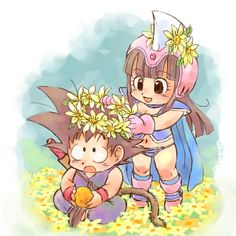 Fan Art of Chichi x Goku ~ Flowers for fans of Dragon Ball Females.